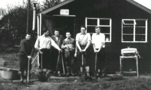 Hillgrove C.1962 L-R, George Pointing, ?,? Dave Berry, Dave King and Maurice Hewins